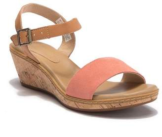Timberland Whittier Leather Cork Wedge Sandal