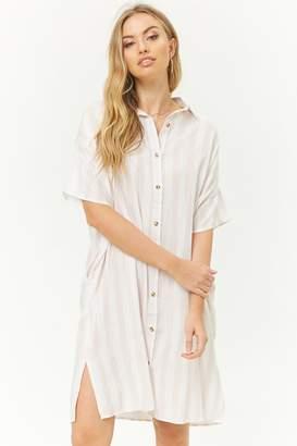 Forever 21 Striped Midi Shirt Dress