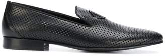 Roberto Cavalli perforated slipper loafers