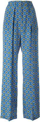 MSGM print palazzo pants