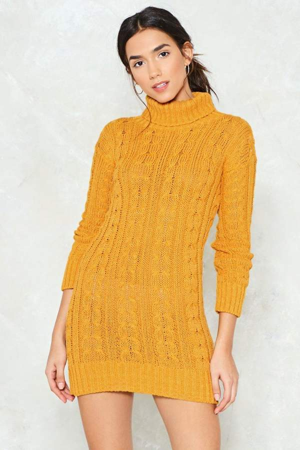 nastygal Warm Welcome Sweater Dress