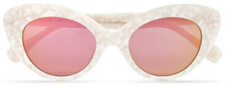 Cat Eye Roberi & Fraud - Agnes Cat-eye Acetate Mirrored Sunglasses - White