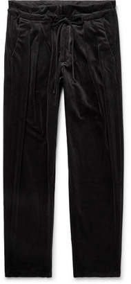 Monitaly Velvet Drawstring Trousers