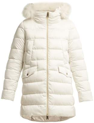 Herno Bonbon Quilted Down Coat - Womens - Ivory