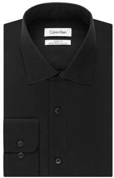 Calvin Klein Big-Fit Solid Dress Shirt