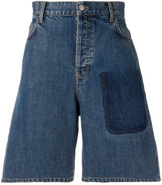 J.W.Anderson mid blue shaded pocket detail denim shorts