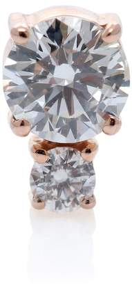 Jemma Wynne Rose gold with diamonds earring