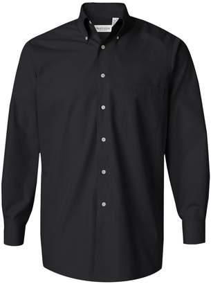 Van Heusen V0113 Men's Long-Sleeve Silky Poplin (XL)