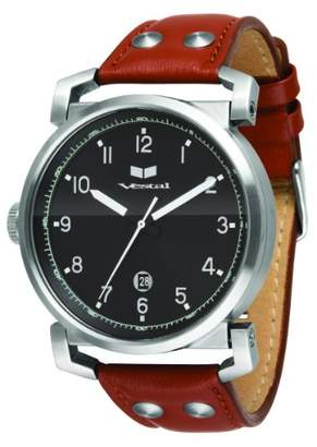 Vestal Men's 'Observer' Quartz Stainless Steel and Leather Casual Watch