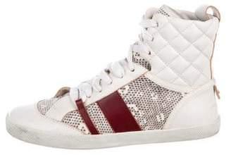 Chloé Embossed High-Top Sneakers