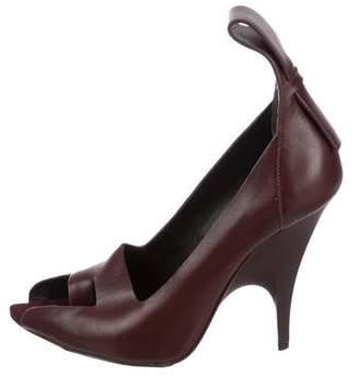 Alexander Wang Leather Peep-Toe Pumps