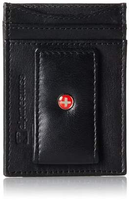 Alpine Swiss AlpineSwiss Mens Leather Money Clip Magnet Front Pocket Wallet Slim ID Card Case