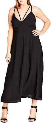 City Chic Sexy Strap Maxi Dress
