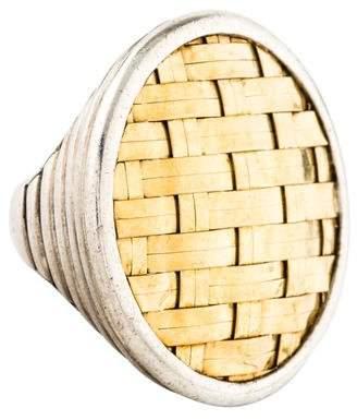 John Hardy Two-Tone Basket Weave Ring