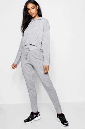 boohoo Boutique Heavy Knitted Crop Lounge Set