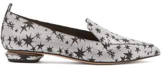 Nicholas Kirkwood Beya Star Jacquard Loafers - Womens - Black Silver