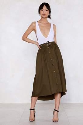Nasty Gal Button It Midi Skirt