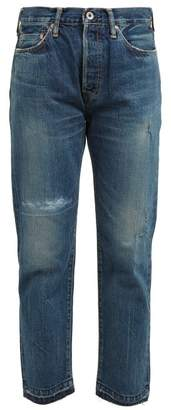 Chimala Distressed Straight Leg Jeans - Womens - Denim