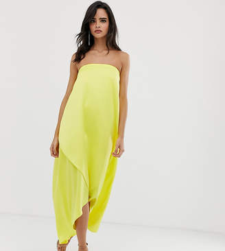 Asos Design DESIGN bandeau midi dress in satin