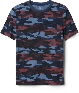 Gap Camo Pocket Crewneck T-Shirt