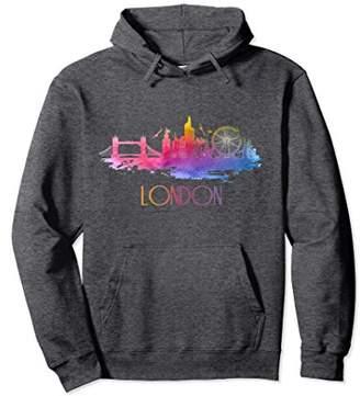 Elegant Beautiful London City Skyline Graphic Art Tee Hoodie