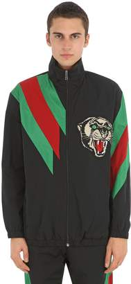 Gucci Tech Nylon Jacket W/ Patch & Web Details