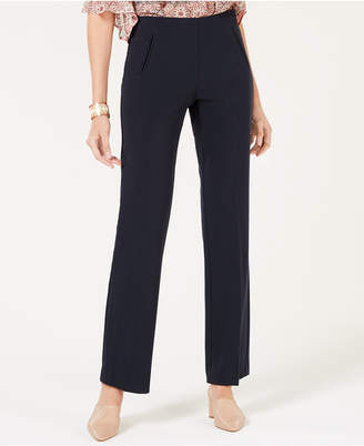 Style&Co. Style & Co Tummy-Control Pull-On Straight-leg Pants