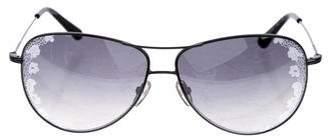 Valentino Floral Aviator Sunglasses
