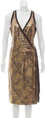 Magaschoni Sleeveless Sequin Dress