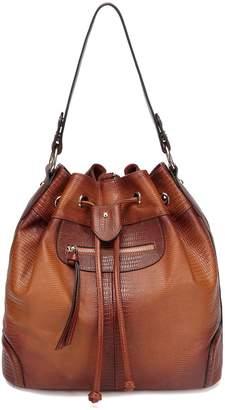 Vicenzo Leather Analia Leather Bucket Bag Backpack