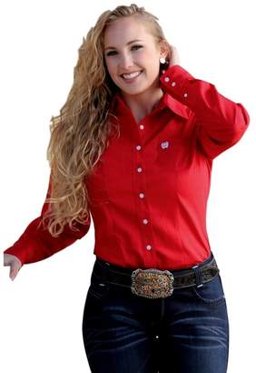 Cinch Western Shirt Womens L/S Pocket Button Weave S MSW9164032