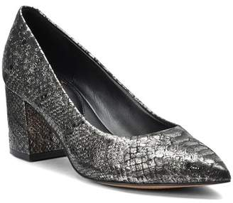 Isola Felino Snake-Embossed Leather Pump
