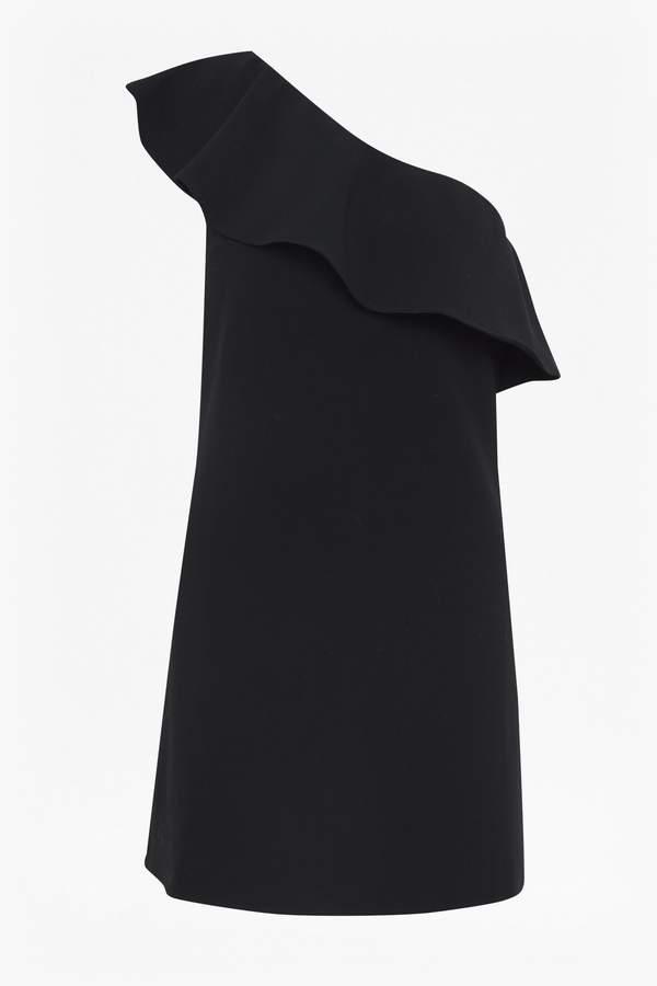 Whisper Ruth One Shoulder Ruffle Dress