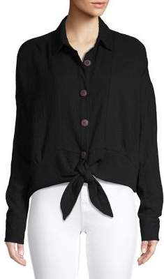Free People Classic Cotton Button-Down Shirt