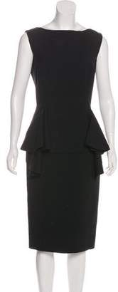 Antonio Berardi Wool Midi Dress