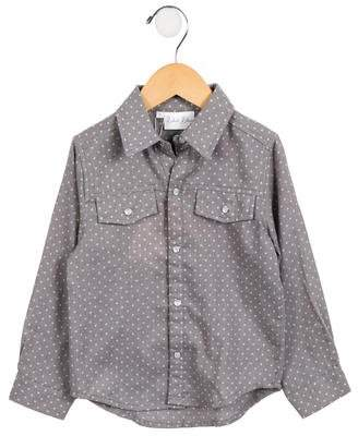 Rachel Riley Girls' Lightweight Polka Dot Shirt w/ Tags