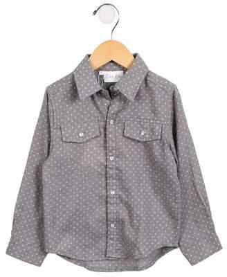 Rachel Riley Girls' Lightweight Polka Dot Shirt w/ Tags