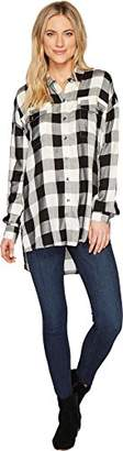 Splendid Women's Buffalo Check Top