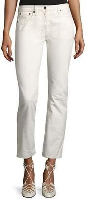 The Row Ashland Slim-Leg Ankle Jeans, White