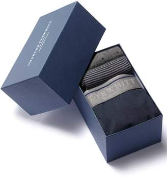 Charles Tyrwhitt Navy Jersey Trunk and Sock Gift Box Size Large