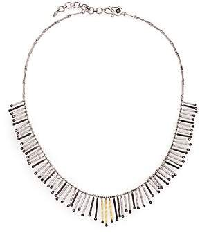 Coomi Silver Women's Diamond, 20K Yellow Gold & Sterling Silver Necklace