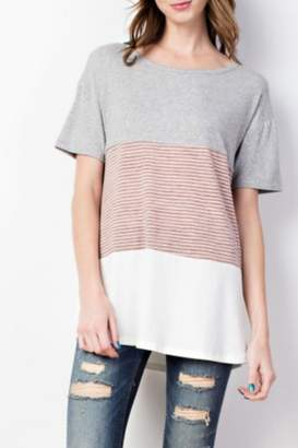 Easel Casual Color-Block Tee