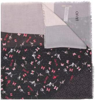 Liu Jo frayed hem printed scarf