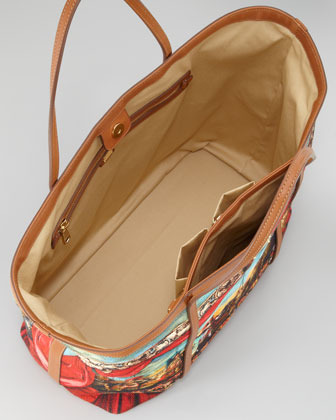 Dolce & Gabbana Miss Escape Printed Canvas Tote Bag