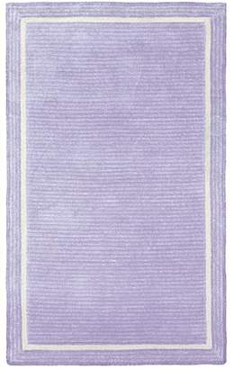 Pottery Barn Teen Capel Border Rug, 5'x8', Pale Lavender