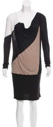 BCBGMAXAZRIA Draped Colorblock Dress