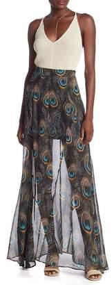 Show Me Your Mumu Princess Di Peacock Patterned Maxi Skirt