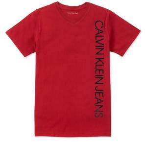 Calvin Klein Jeans Boy's Iconic V-Neck Tee