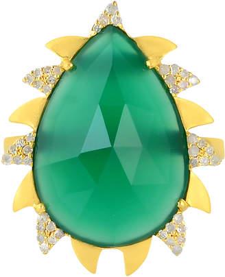 Meghna Jewels 18k Gold & Diamond Claw Ring