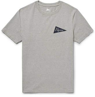 Pilgrim Surf + Supply Logo-Print Mélange Cotton-Jersey T-Shirt